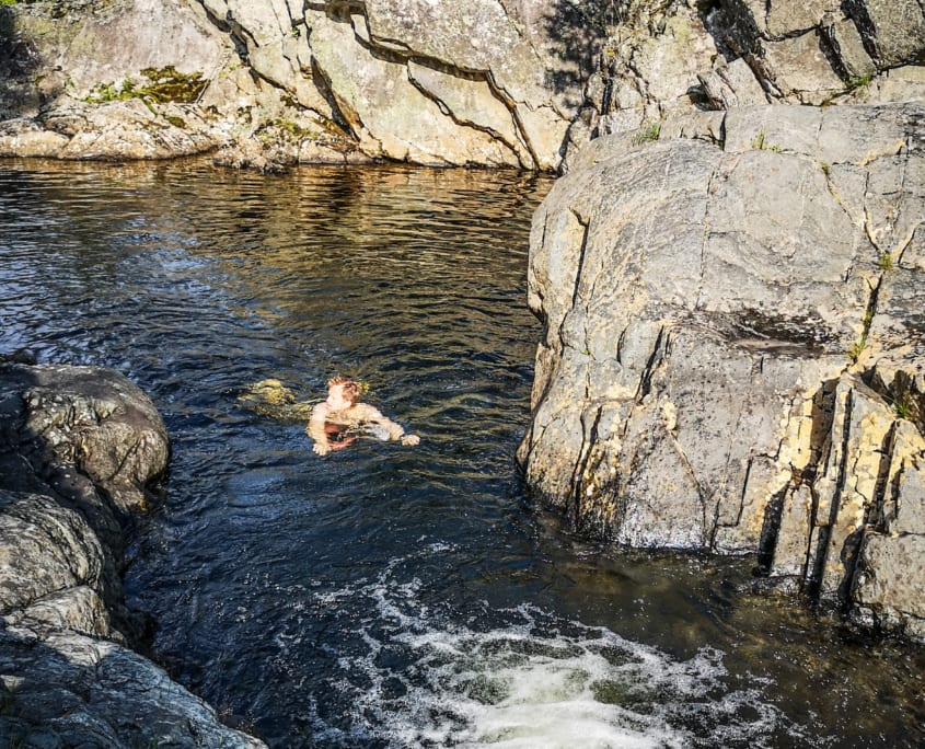 Bading i Rukkedøla